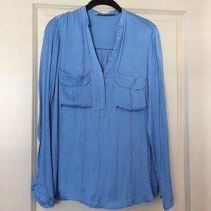 Baby Blue Zara Silk Blouse (S)